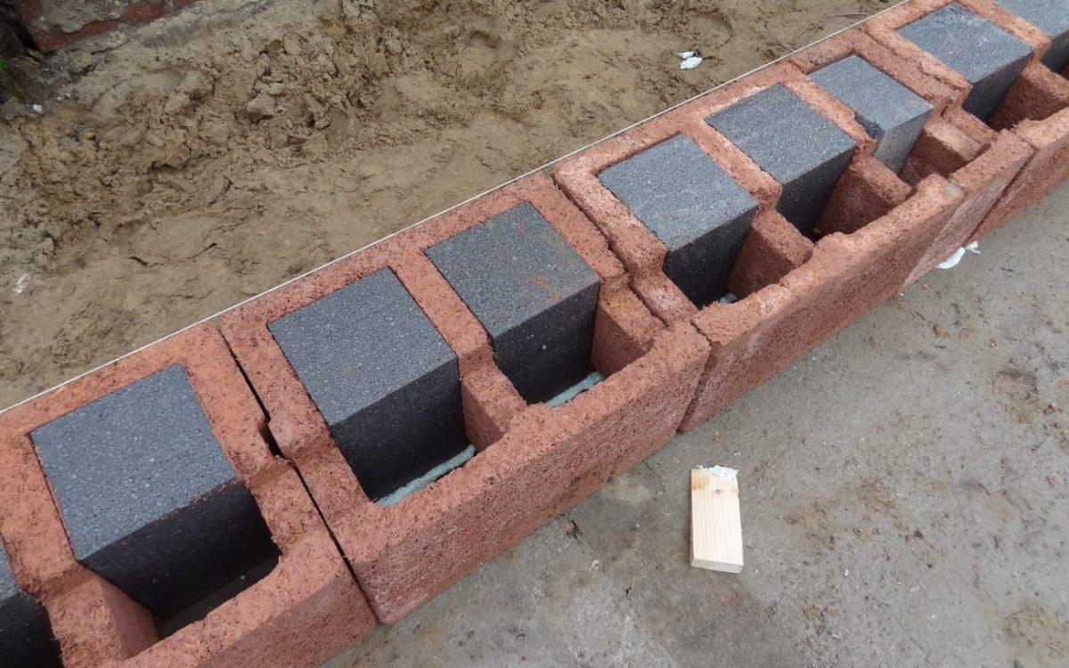 Verbouw en aanbouw houtvezelcement mantelstenen
