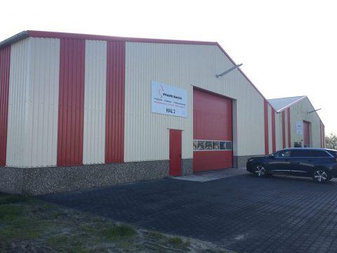Nieuwbouw van een machinewerkplaats in Rutten