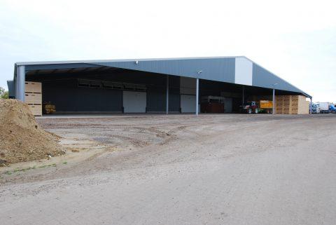 Nieuwbouw van een aardappelbewaring in Horst