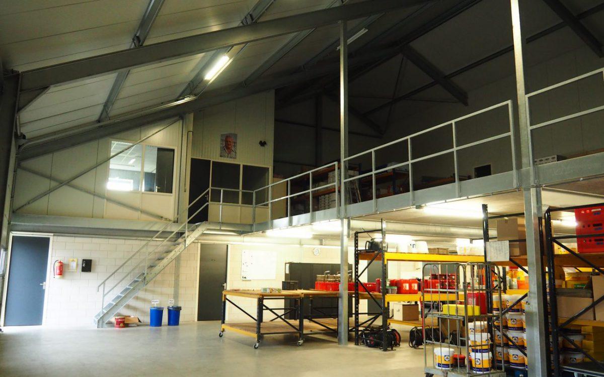 Nieuwbouw van een bedrijfshal voor een cateringbedrijf in Den Dungen.