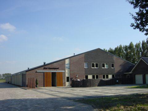 Nieuwbouw van een rijhal in Herpen