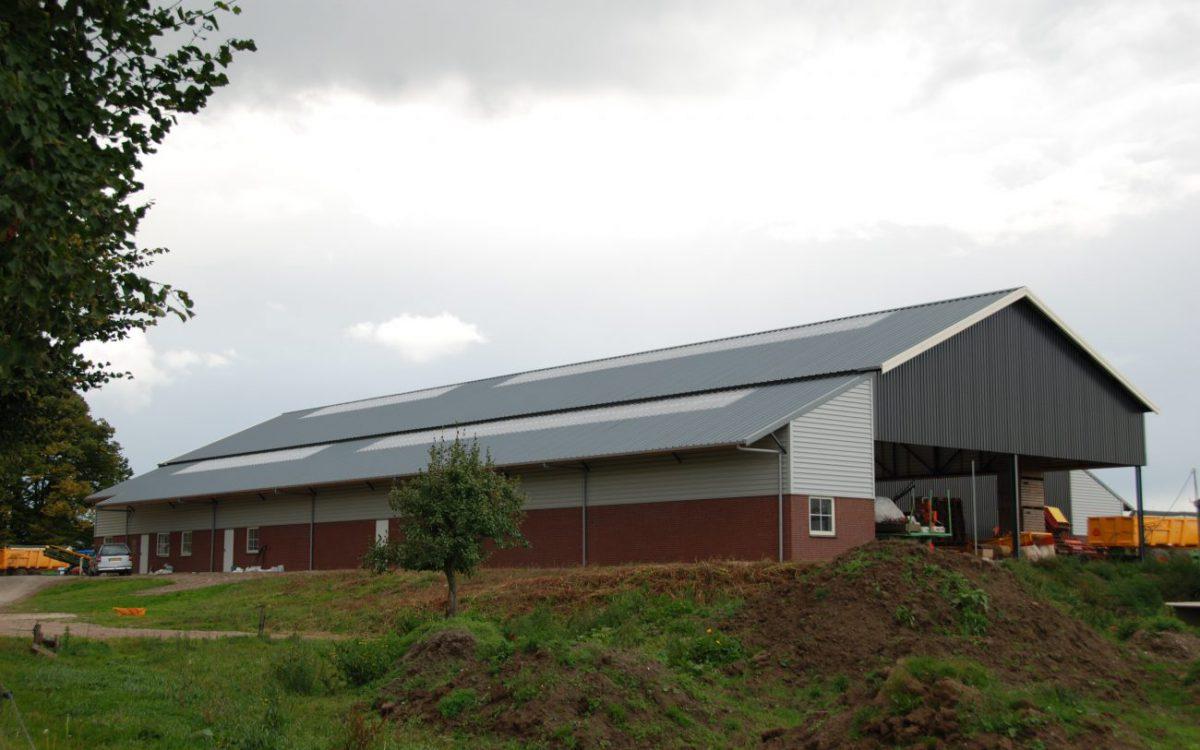 Nieuwbouw aardappelbewaring met machineberging in Aerdt