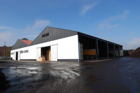 Nieuwbouw van een kistenbewaring in Arendonk