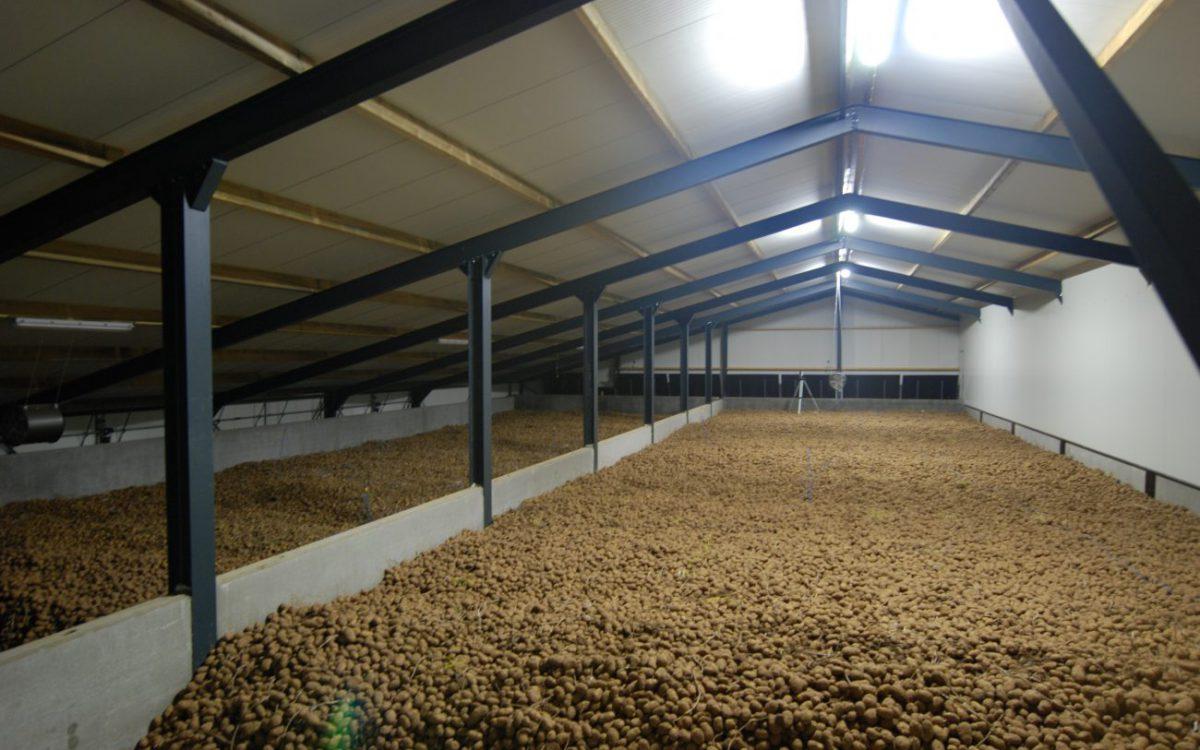 Nieuwbouw van een aardappelbewaring in Voerendaal