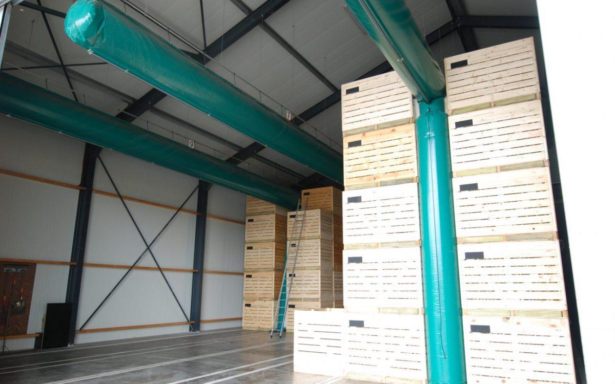 Nieuwbouw van een aardappelbewaring in Klazienaveen