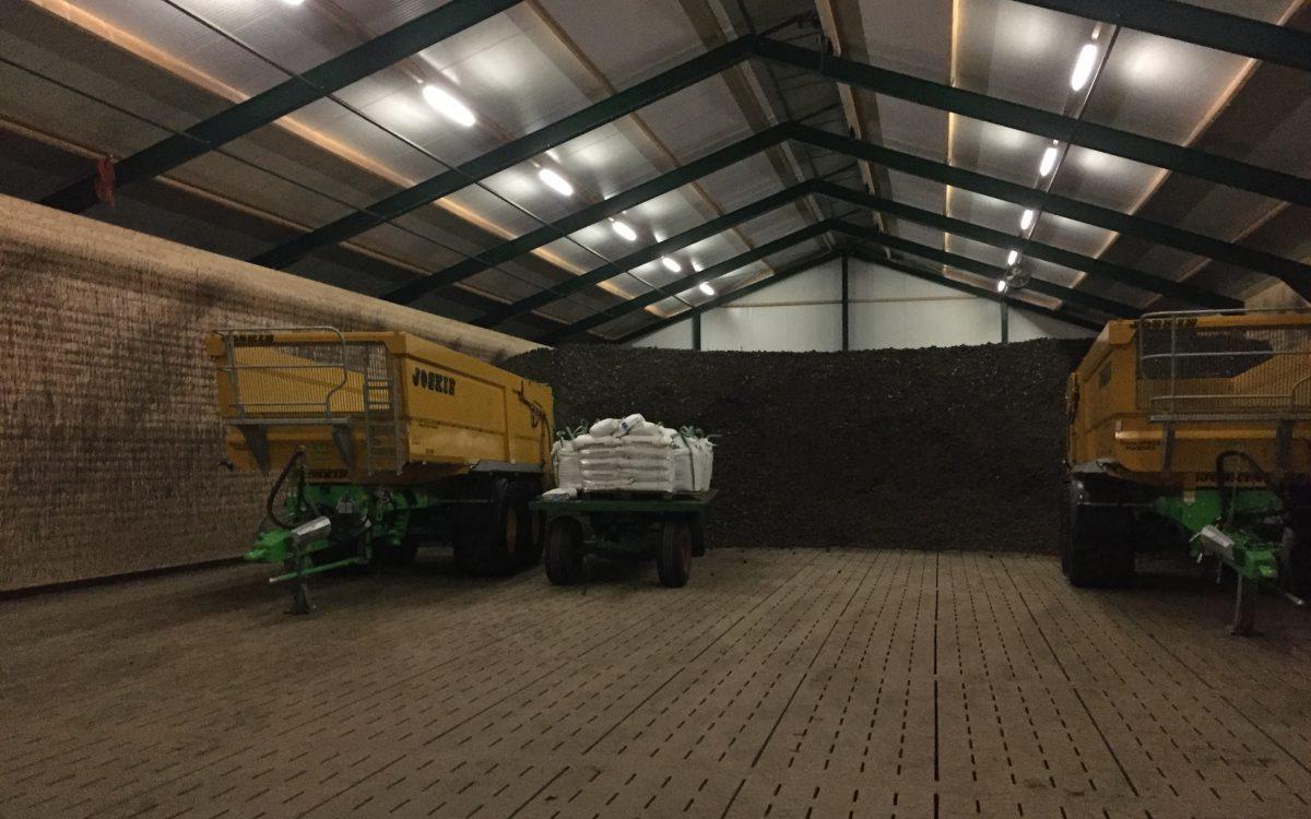 Nieuwbouw van een aardappelbewaarhal in 2e Exloërmond