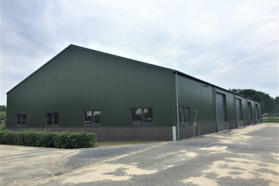 Nieuwbouw van een opslaghal in Gemonde
