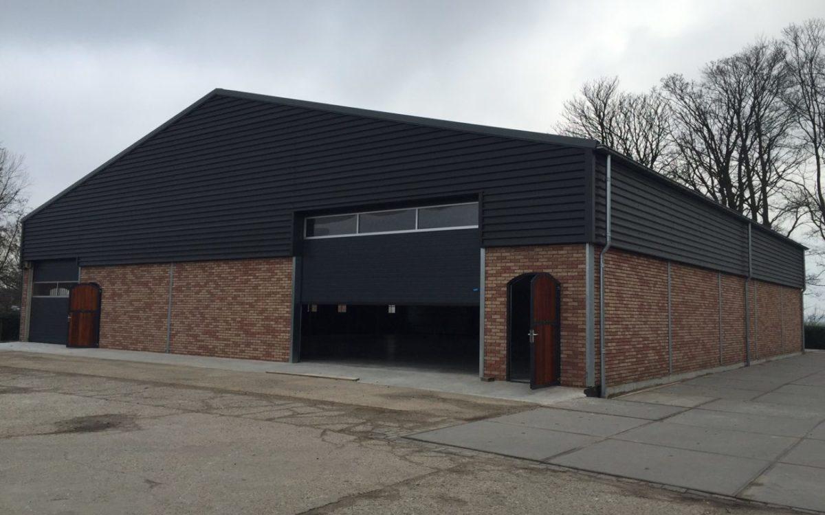 Nieuwbouw van een opslaghal in Zwanenburg