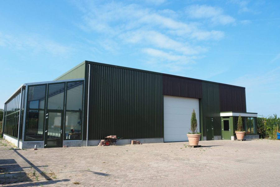 Nieuwbouw van een vissenkwekerij in Rosmalen