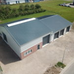 Nieuwbouw dubbele loods in Dreumel