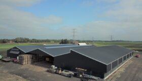 Nieuwbouw van een agrarische bedrijfsruimte in Roswinkel